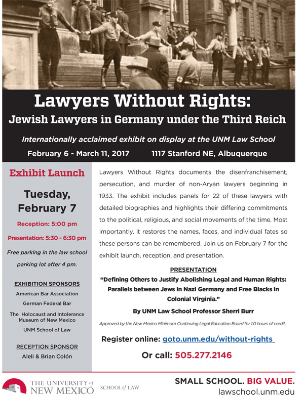 Lawyers Without Rights: Jewish Lawyers in Germany under the Third Reich