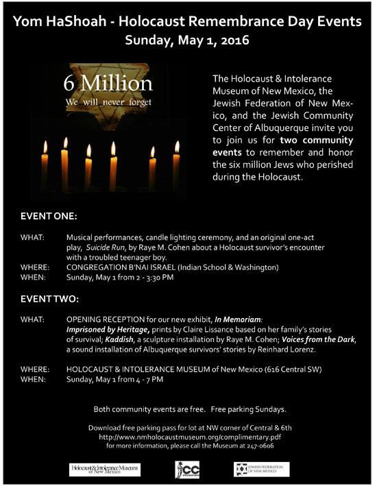 Yom HaShoah - Holocaust Remembrance Day Events