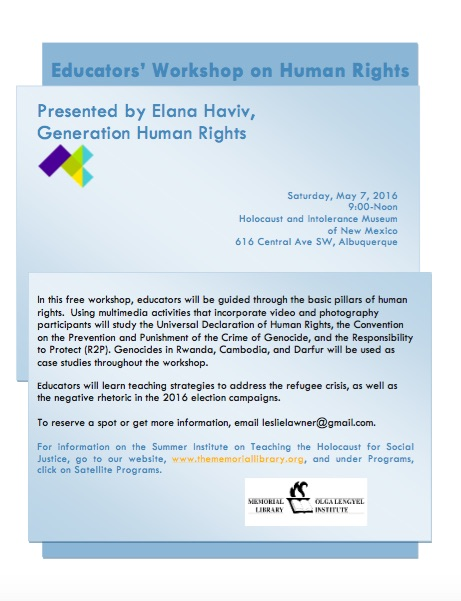 Educators' Workshop on Human Rights