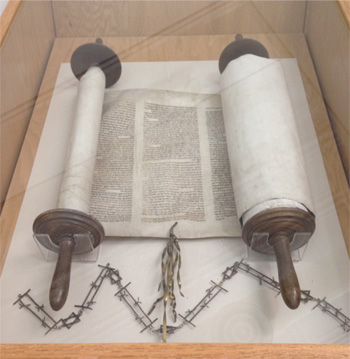 Czech Torah on loan from the Czech Memorial Scroll Trust