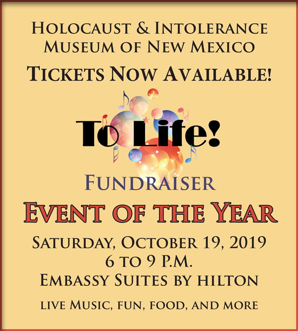 Tickets Now Available - To Life! Fundraiser